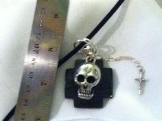 Necklace Skull  Pendant Skull Goth by QualityNotQuantity on Etsy, $18.00