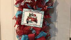 How to make a  Christmas rail from Hard Working Mom Rail kit - YouTube Christmas Wreaths, Christmas Ideas, Deco Mesh Wreaths, Photo Tutorial, Working Moms, Diy Wreath, Work Hard, Supply List, Kit