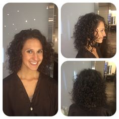 I did a lit of dry cutting and shaping the curls to create the shape. Did diffuse blow dry