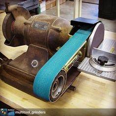 Teaching old grinders new tricks! Follow @multitool_grinders for the Australian Multitool and Radiusmaster grinder photos and news! #multitoolgrinder #metalfab #fabshop #metalfabrication #fabrication #neverenoughtools #metalwork #tools #fabtools #fab101 #fabricate #tooljunkie #tooladdiction #garagelife #shoplife #metalfinish #weld #welding #welder #grind #grinder #benchgrinder #multitoolgrinder #beltgrinder #grinding