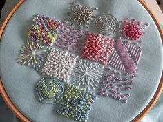 Embroidered inchies by contented be, via Flickr