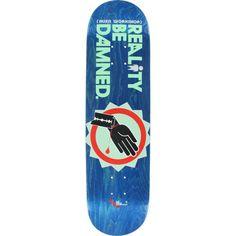 Alien Workshop Hex Mark Reality Be Damned Wrist Slit skateboard deck - now at Warehouse Skateboards! #skateboards #whskate