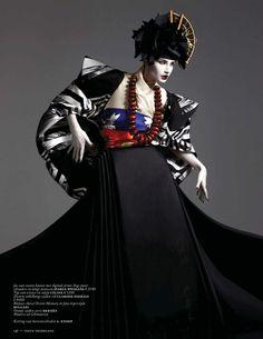 Ishi Studios – Vogue Nederland, March 2013 – Eugenia Volodina – Editorial Fashion Photography – Japanese Geisha - New Site Foto Fashion, Kimono Fashion, Fashion Art, Fashion Design, Vogue Fashion, Moda Kimono, Ethno Style, High Fashion Photography, Mode Editorials