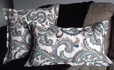 no-sew pillow covers!  tutorial here: http://doublethedecor.blogspot.com/2012/02/fabulous-no-sew-pillow-covers.html