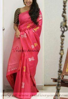 Indian Silk Sarees, Soft Silk Sarees, Indian Blouse, Half Saree Designs, Silk Saree Blouse Designs, Jamdani Saree, Kalamkari Saree, Indian Bridal Outfits, Indian Dresses