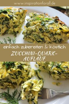 Zucchini-Quark-Auflauf mit Käse & Kräutern – schnelles & leckeres Rezept The vegetarian zucchini curd casserole with cheese and herbs is healthy, delicious and ideal for dinner or lunch. You can quickly prepare it yourself using this simple recipe. Clean Eating Recipes, Healthy Dinner Recipes, Vegetarian Recipes, Vegetarian Meatballs, Casserole Recipes, Zucchini Casserole, Easy Meals, Yummy Food, Lunch