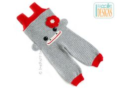Crochet Sock Monkey Jumpsuit for 2-3 years READY to by IraRott