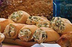 Chicken, herbs and bread rolls (rollos de pan, pollo y hierbas)