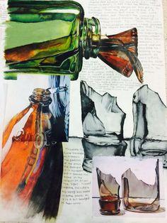 A-level artist study on Todd Ford @ Highcrest Academyinspiration for my glass pr… – A Level Art Sketchbook - Water Inspiration Art, Sketchbook Inspiration, Art Inspo, A Level Art Sketchbook, Sketchbook Layout, Sketchbook Ideas, Artist Sketchbook, Art Nouveau, Reflection Art