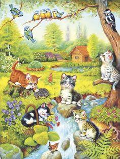 Pintura de gatitos