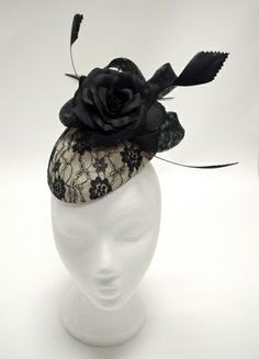 Black Lace Beret BY AILISH MCELROY #millinery #hats #HatAcademy