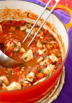 Rich in flavor, this fisherman's soup recipe is surprisingly healthy and low fat.
