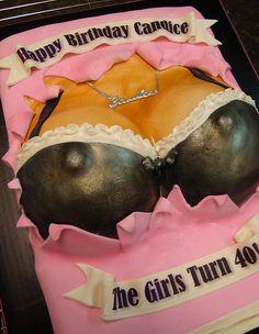 The Girls Turn 40 Cake