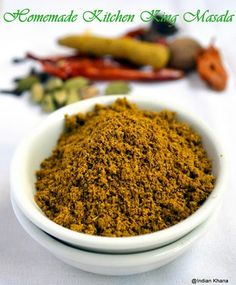 Homemade Kitchen King Masala Powder Recipe - make your own kitchen king at home it's easy. Spice powder recipe, masala powder recipe, garam masala recipe.