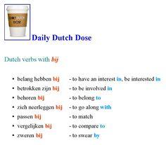 Daily Dutch Dose : Dutch verbs with BIJ