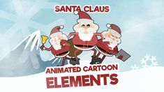 Santa Claus Cartoon Animation Elements 1 – Pack 1 - 30 loop animations - Resolution - Quicktime PNG + Alpha - 30 Fps - Easy to use - Drag n drop n place This pack also av. Animated Cartoons, Digital Media, Family Guy, Santa, Animation, Feelings, Templates, Anime, Fictional Characters