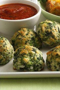 Spinach-Cheese Balls -- great for vegetarians!