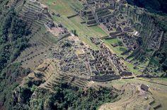 aerial view Machu Picchu | Aerial View of Inca City, Machu Picchu. - YA009408 - Rights Managed ...