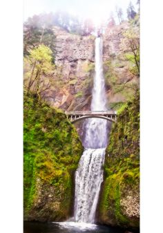 Multnomah Falls by Robert Sharp, via Behance