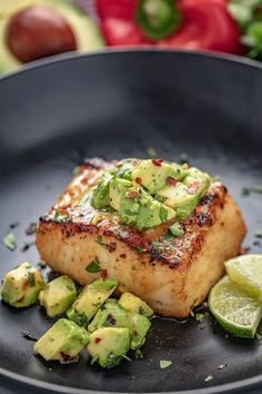 fish recipes This Sea Bass with Avocado Salsa recipe is light and delicious. Sea Bass is a mild fish but boasts a buttery and meaty texture. Served with this rich avocado salsa, you have a colorful, flavorful dish that always delights! Best Fish Recipes, Salmon Recipes, New Recipes, Dinner Recipes, Cooking Recipes, Healthy Fish Recipes, White Fish Recipes, Recipes With Fish, Red Snapper Recipes