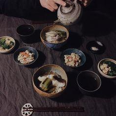 朝食京ねぎと鯛の出汁茶漬け(はじき豆ごはん)高野豆腐の炒り煮ブロッコリーとたまごの鮭ぶし和え高野豆腐を戻しすぎたのでおからの様に使ってみた by saki.52