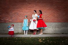 Vintage red & turquoise Wedding