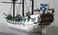 Lego Pirate Ship, Lego Ship, Pirate Ships, Legos, Lego Boot, Lego Wall, Lego Boards, Brick Loft, Cool Lego Creations