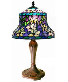 Tiffany style blue table lamp $78
