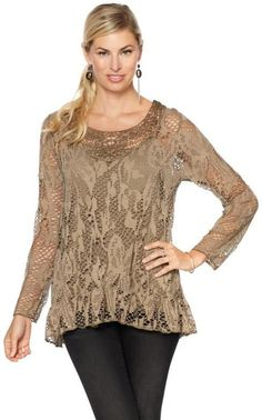 Colleen Lopez Collection Colleen Lopez Grace Crochet Top with Camisole