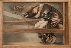 Being so very ethereal is exhausting at times. Edward Burne Jones Study for 'The Garden Court' 1889