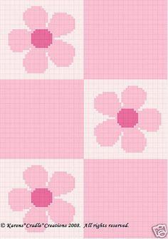 Pink Daisy Flowers Color Graph Crochet Pattern Easy | eBay