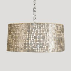 """Contains a double nickel plated socket that holds (2) 40 watt chandelier bulbs Comes with 3' chrome plated chain and canopy 20""""dia x 9""""h Please allow 2-3 weeks"""