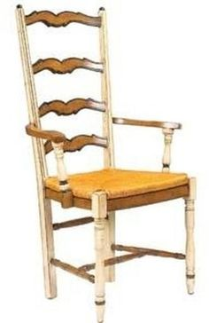 Dining Arm Chair FRENCH HERITAGE MAISON MOISSON Ladderback Ladder Back Vo FH-549