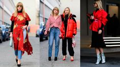 How to Wear Red as seen on MFW STREETSTYLE 2017