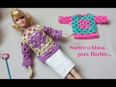 Watch This Video Incredible Crochet a Bear Ideas. Cutest Crochet a Bear Ideas. Crochet Doll Dress, Crochet Barbie Clothes, Barbie Clothes Patterns, Doll Patterns, Accessoires Barbie, Doll Videos, Barbie Dress, Barbie Doll, Crochet Videos