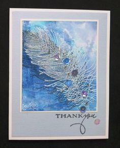 *IC432 MIX59 Feather Thank You by hobbydujour - Cards and Paper Crafts at Splitcoaststampers