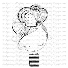 new hair do Doodle Drawings, Easy Drawings, Doodle Art, Pencil Drawings, New Hair Do, Digi Stamps, Art Challenge, Cute Illustration, French Illustration