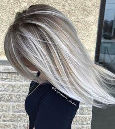Ideas for hair color dark ash blonde highlights Hair Color Dark, Cool Hair Color, Dark Hair, Gray Color, Dark Blonde, Grey Hair Colors, Silver Hair Colors, Brown Hair, Grey Blonde Hair