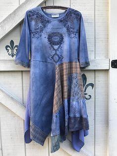 Bohemian dress periwinkle gypsy dress L fairy gypsy dress