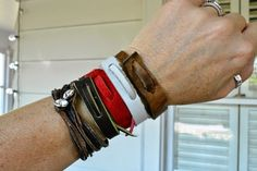 WobiSobi: Easy Leather Bracelet: DIY