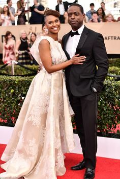 Better together: Ryan Michelle Bathe andSterling K. Brown made a glam red carpet couple...
