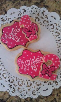 Pink birthday cookies