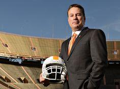 Tennessee head football coach Butch Jones