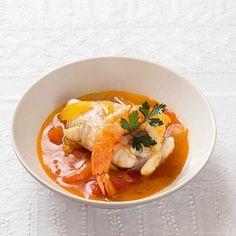 Ragoût de lotte et crevettes à la sauce safranée de Raquel Carena, chef du Baratin, 3, rue Jouye-Rouve, 75020 Paris, 01 43 49 39 70