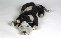 Dog Sculptures Made with Bicycle Parts