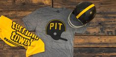 Show your Steeler pride in our comfy PIT Helmet tee!