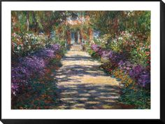 The Artist's Garden at Giverny by Monet, Posters and Prints at Art.co.uk