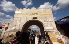 Historic gate in Harar Ethiopia