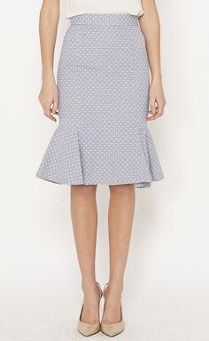 Dot ruffled skirt