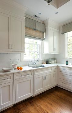 Window treatments, white, marble | Advanced Renovations